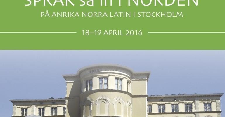 Schema klart för konferensen Språk så in i Norden