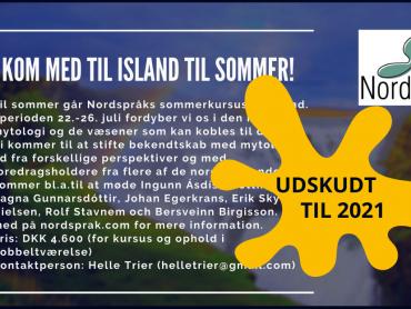 Nordspråks sommarkurs uppskjuten till juli 2021