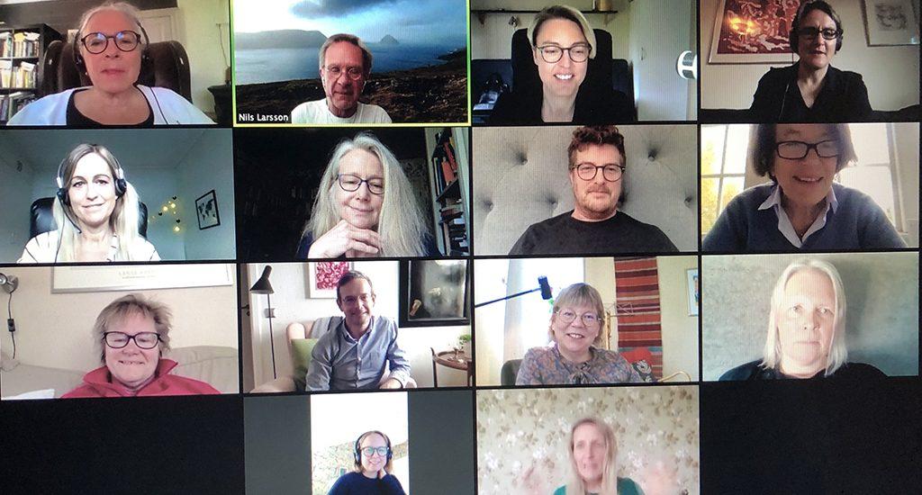 Bild på det digitala årsmötet.